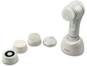 cepillo facial sónico con cinco cabezales, dermoabrasión, HoMedics, limpieza facial, reducción de arrugas, Scyse