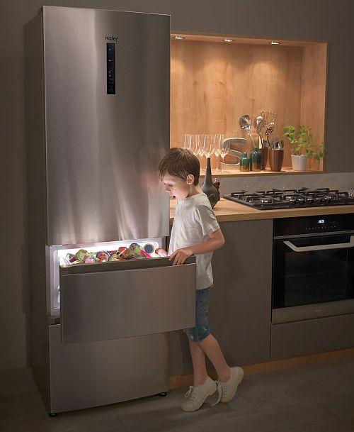 CUBE Series, french door, frigoríficos Iconic Black, función Vapor, Haier, Haier Duo Dry, lavadoras Direct Motion, smartlife, tecnología ABT antibacterias, tecnología Fresh Tech, VDE, Zero Distance