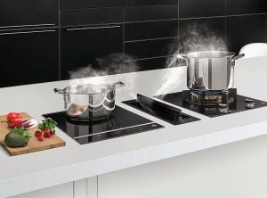 Absolute Black, De Dietrich, Fascination, Frigicoll, Horizone, Iron Grey, placas de cocina, plancha y grill extraíbles, Platinum, Pure white