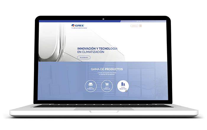 nueva web de gree, web de gree en español, aire acondicionado, nuevo website, climatización