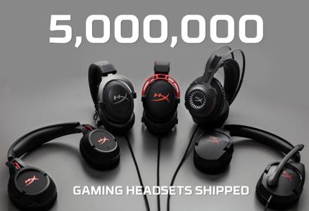 hyperX, auriculares gaming, videojuegos, fortnite, cinco millones de auriculares vendidos, exito venta videojuegos