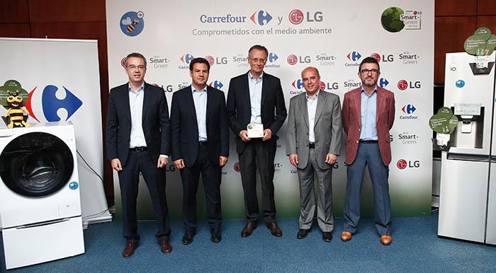 LG, Carrefour, acción de concienciación medioambiental, reforestación, electrodomésticos más eficientes, árboles, sostenibilidad, salvemos el planeta, reciclar, comprar verde