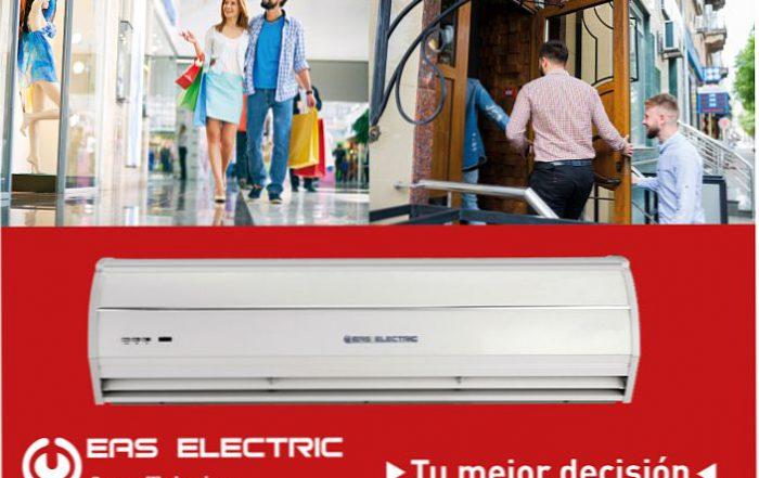 carcasa de aluminio y plástico ABS, cortinas de aire, Eas Electric, motor centrífugo y de alta velocidad., serie ECA
