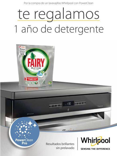 Fairy, Función PowerDry, PowerClean, Whirlpool