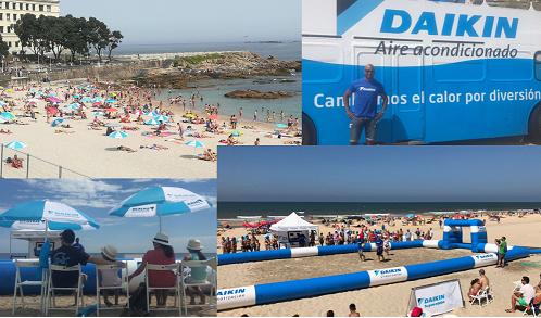daikin, verano, playas, ruta del calor, aire acondicionado, verano, ola de calor, playas, marcos sena, andrés palop, promoción, autobús de daikin