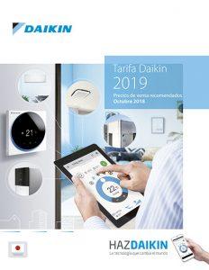 Daikin, calefacción, climatización, aire aondicionado, Tarifa Precios 2019, catálogo profesionales