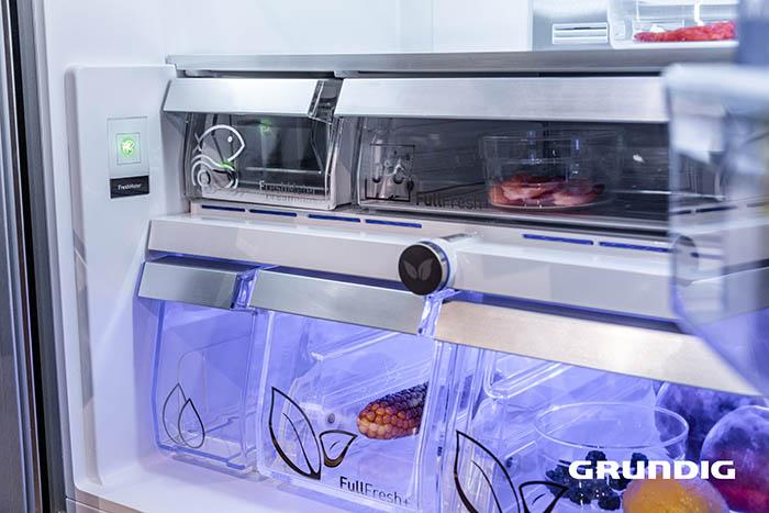 Grundig, frigoríficos, multi door, eficiencia energética, conservación de alimentos, cocina sana, reducir el desperdicio alimentario