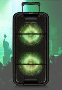 3, 5 mm, Bluetooth, Boombox inalámbrico portátil para fiestas SS-8765, función Karaoke, función TWS, pantalla LED, radio FM, SD, Sogo, USB