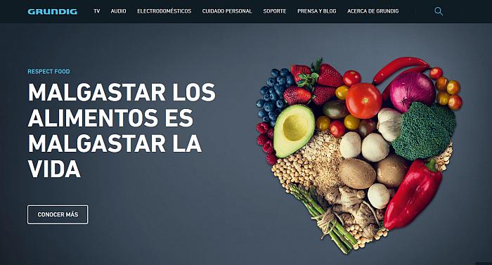 #NoLaTiresMás grundig desperdicio alimentario campaña electrodomésticos