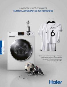lavadora haier con función vapor, motor direct motion, 9 kg, electrodoméstico, lavadora, haier, a+++, eficacia en lavado