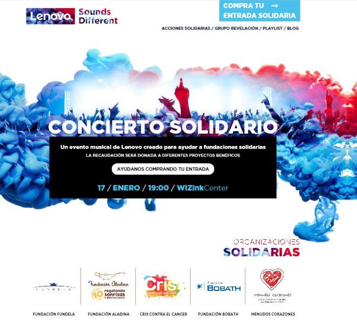 lenovo, concierto solidario, lenovo musica, lenovo sounds different, wizink, ordenadores, alberto ruano