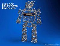 carga de los electrodos, estructura con ranuras en forma de V, Evolta Neo, Panasonic Energy, pila Premium, Unlock the power of silver
