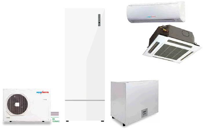 eurofred, sistema aquatermic hybrid, calefacción, climatización completa, aire acondicionado, versatilidad, placas solares, suelo radiante, fan coil, eurofred, climatización doméstica, agua caliente sanitaria
