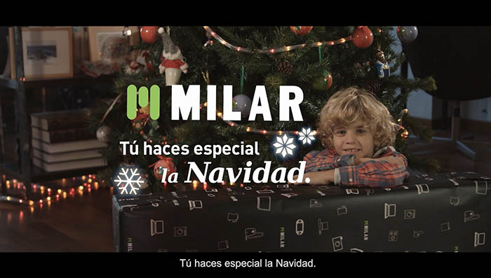 campaña de navidad, milar, milar caslesa, sinersis, campaña televisiva, electrodomésticos, comunidad valenciana