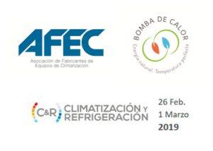 feria c&R, climatización y refrigeración, afec, asociación de fabricantes de equipos de climatización, promoción de la bomba de calor, bomba de calor, stand, ifema