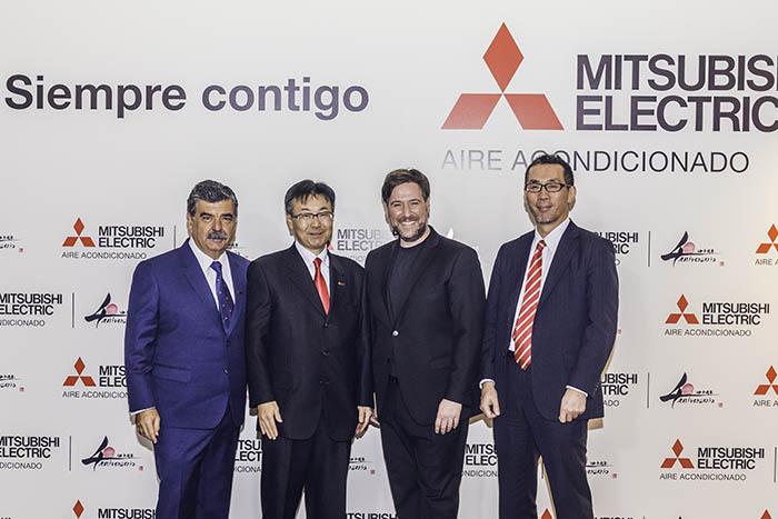 Mitsubishi Electric Aire acondicionado, 40 aniversario, españa, plaza de las ventas, madrid, carlos latre, pedro ruiz, kusano, aire acondicionado, climatización, celebración