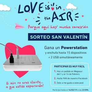 Informática Megasur, Love is in the air, Megasur, promoción San Valentín, regalos tecnológicos, retail, tiendas