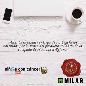 asociación Pyfano, auriculares jbl, Casle, Milar Caslesa, Milar Caslesa niños, niños con cáncer, S.A