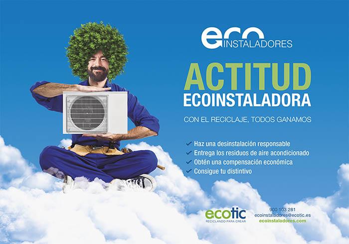 ecoinstaladores, feria climatización 2019, ecotic, reciclaje de eraee, climatización, instaladores, gases fluorados, residuos, airea condicionado