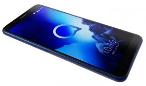 5 D, Alcatel 1X, detalle minimalista del anillo alrededor de las lentes de la cámara, Face Key, Pebble Black, Pebble Blue., tecnología de seguridad biométrica que utiliza el reconocimiento facial, vidrio 2