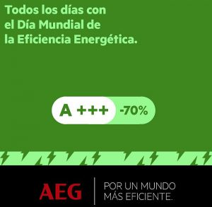 Día Mundial de la Eficiencia Energética, Electrolux, Grupo Electrolux, Memorias Anuales de Sostenibilidad, lavadoras, lavasecadoras, placas de inducción, AEG serie 9000, Acuerdo Climático de París, eficiencia energética, ahorro de energía, secadoras