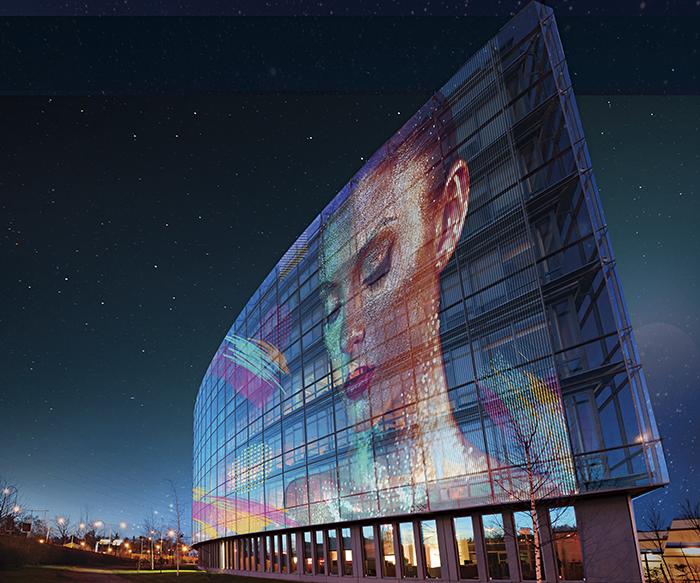 LG LED Film, pantalla flexible, película pantalla, film pantalla, señalética, entornos digitales, sobre vidrio y cristal, futuro, señalética, digital signage, muros pantalla, televisores, LG Electronics, pantallas flexibles