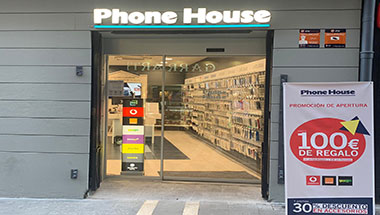 tienda phone house de pamplona, calle estafeta, compra teléfono móvil, smartphone, navarra