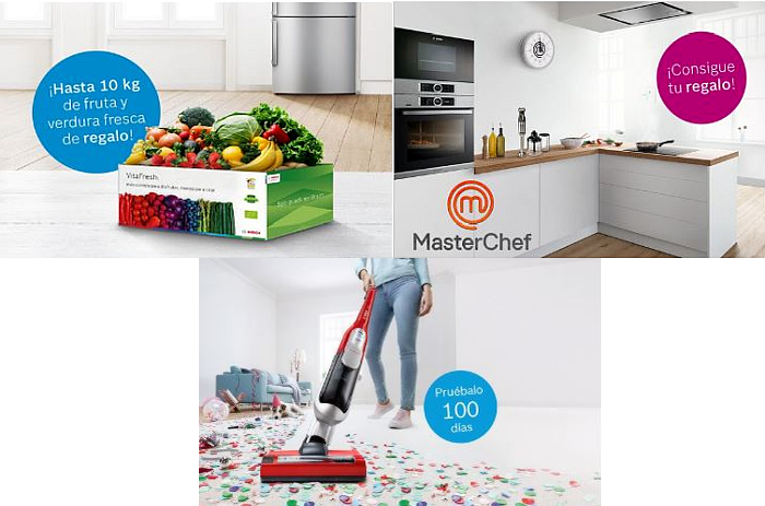 aspiradores sin cable, Athlet, Bosch, Bosch promociones, campanas, electrodomésticos Bosch, electrodomésticos de cocina, frigoríficos, hornos, MasterChef, placas, Serie 6, Serie 8, VitaFresh