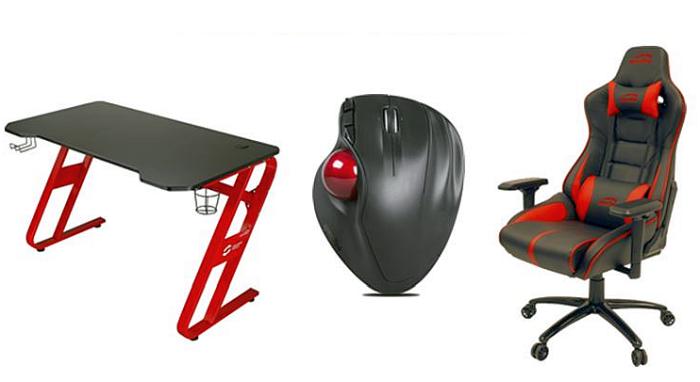 4 GHz, accesorios para smartphones, Aptico Trackball, asiento ajustable en altura, cinco botones, gaming, gaming desk, interruptor dpi, mecanismo de balanceo regulable, ordenador, organizador de cables, periférico inalámbrico, pies de goma antideslizantes, portavasos, reposabrazos 4D, respaldo con ángulo de inclinación ajustable, rueda scroll de goma de cuatro vías, Scarit, sensor láser, silla gamer Ariac, sonido, tecnología por radiofrecuencia de 2, trackball