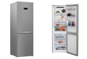Beko, clase energética A+++, compresor ProSmart Inverter, descongelación automática, Display Touch Control, dos sistemas de frío independientes, frigorífico Combi Inox RCNA 366E40 XB, libre instalación, RCNA 366E40 XB, SmoothFi, tecnología NeoFrost Dual Cooling