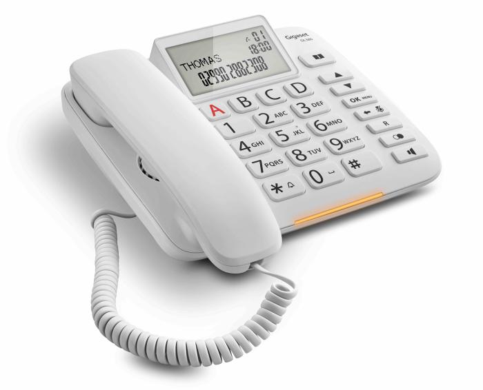 conversaciones en manos libre, DL380, DL580, función SOS, Gigaset Life, Gigaset Life Series, interfaz de usuario, luz LED frontal, menú de funciones fácil de utilizar, señalización visual de las llamadas, teclas programables para marcación rápida, teléfonía DECT, telefonía sénior, teléfonos DECT, tienda online Gigaset
