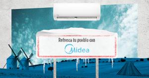 #AireAcondicionadoMidea, Facebook, Instagram, Midea pueblo, pueblo más caluroso de España, Twitter, vacaciones en el pueblo