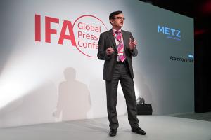 Metz Blue, ifa 2019, ifa global press conference, televisores, skyworth, Norbert Kotzbauer, ceo, televisores premium, android TV, TV oled, mercado español, distribución electro