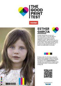 donación de médula ósea, impresoras, Organización Nacional de Trasplantes (ONT), página de prueba de la impresora, The Good Print Test, VCCP Spain, Worten, Worten donación