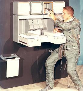 50º aniversario de la llegada del hombre a la Luna, 50º aniversario de la llegada del hombre a la Luna a bordo de la misión Apolo 11, cocinas, misión Apolo 11, misión Mercurio de la Fuerza Armada de los Estados Unidos, misiones Gemini y Skylab de la NAS, programa Cocina Espacial experimental, Smithsonian Institution, Whirlpool, Whirlpool Luna