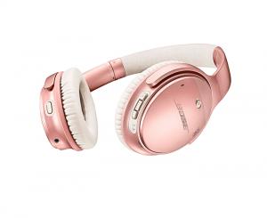 auriculares Bose en rosa oro