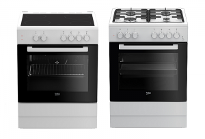 beko, cocinas freestanding, cocinas con horno y placa de cocción, beko, electrodoméstico, cocina mixta FSE62110DW, cocina eléctrica FSS67000GW