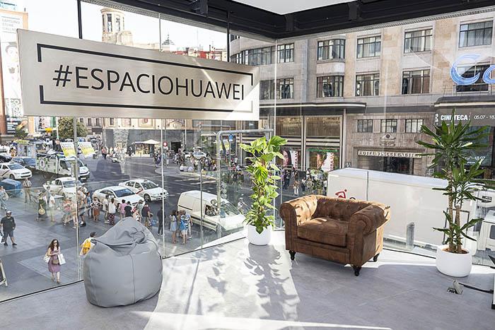 espacio huawei madrid, tienda huawei, tienda de teléfonos móviles, madrid