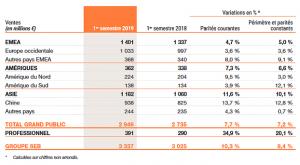 Ventas Group SEB Primer semestre 2019