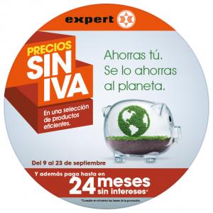 material PLV de la campaña precios sin iva de Expert