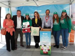 campaña de reciclaje de residuos de aparatos eléctricos y electrónicos Dona Vida al Planeta en Huelva