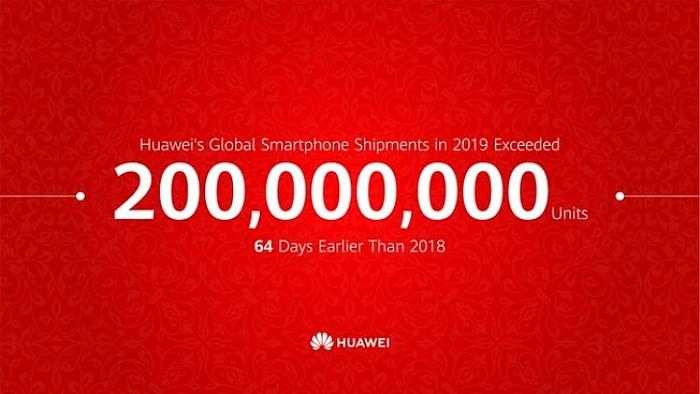 Huawei consigue el hito de vender 200 millones de unidades en 2019