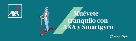 acuerdo smartGyro y Axa seguros de patinetes eléctricos