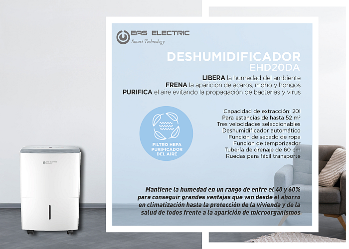 EAS Electric deshumidificador EHD20DA