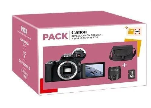 Cámara réflex Canon EOS 250D Pack