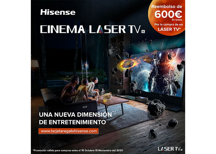 Promoción Láser TV Hisense