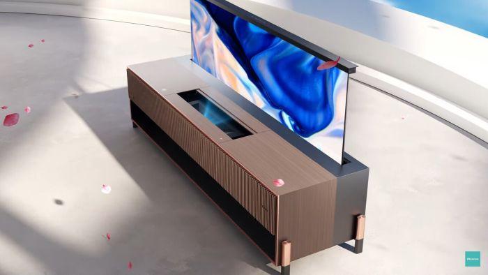Láser TV enrollable