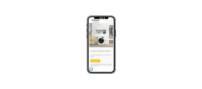 Nueva web Whirlpool españa desde dispositivo móvil