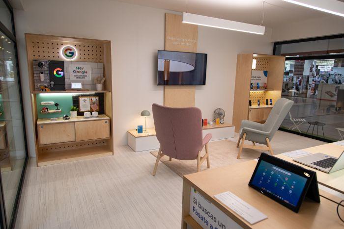 Representación de un salón en la tienda Google de barcelona